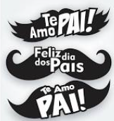 Aplique Dia Dos Pais Bigode c/06 - Festa Maluca