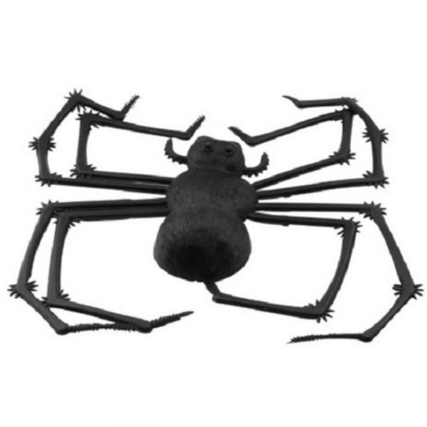 Aranha Viúva Negra Decorativa Preta - Brasilflex
