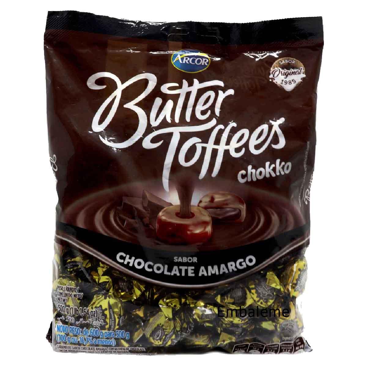 Bala Butter Toffees Chocolate Amargo 500g - Arcor