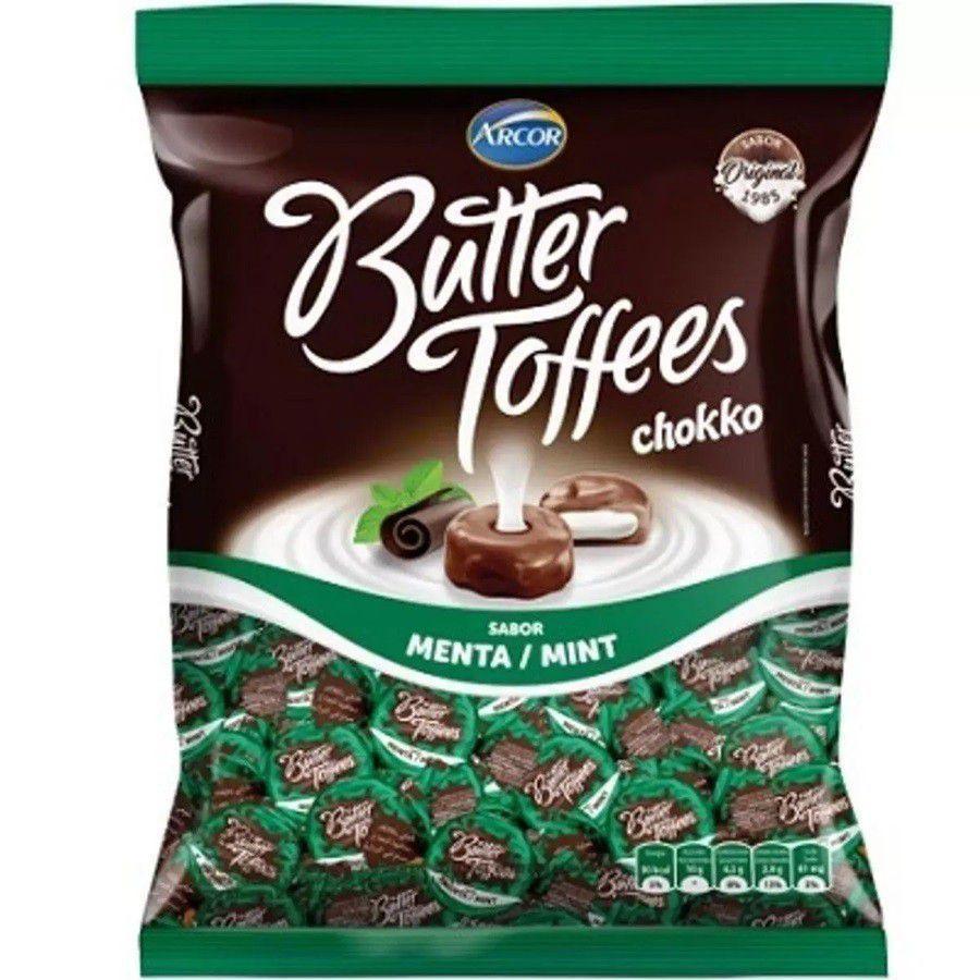 Bala Butter Toffees Menta 500g - Arcor
