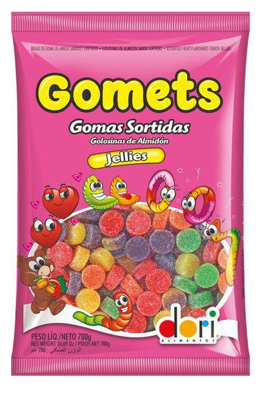 Bala de Goma Gomets Jellies Americana 700g - Dori