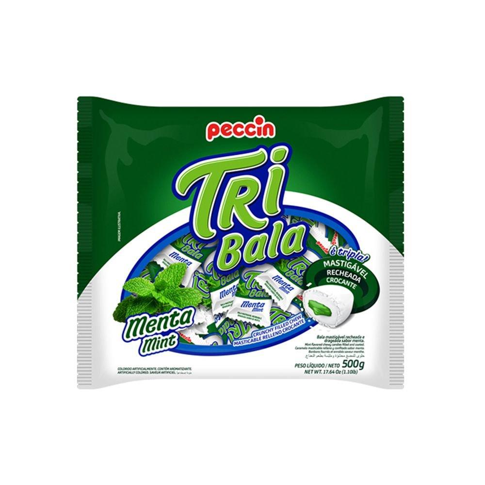 Bala Tribala Recheada Menta 500g - Peccin