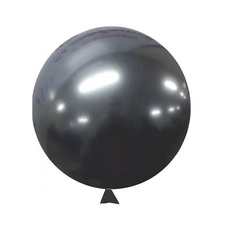 Balão Alumínio Nº5 Onix c/25 - Happy Day