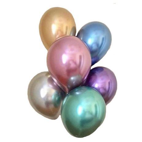 Balão Alumínio Nº5 Sortido c/25 - Happy Day
