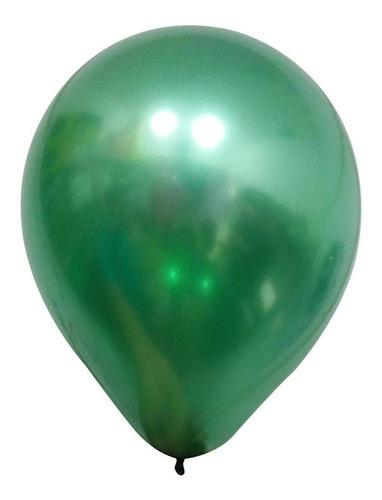 Balão Alumínio Nº5 Verde c/25 - Happy Day