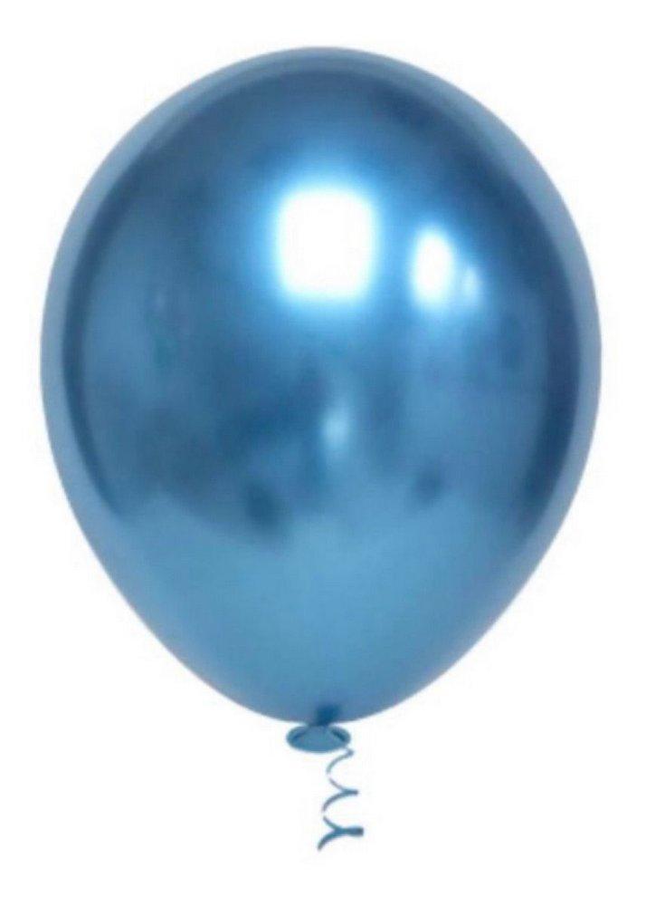 Balão Alumínio Nº9 Azul c/25 - Happy Day