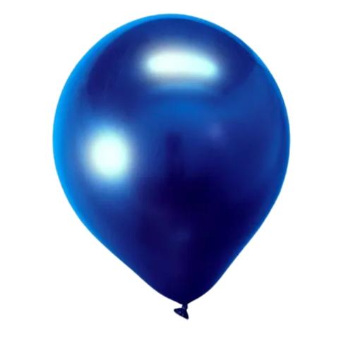 Balão Alumínio Nº9 Azul Meia Noite  c/25 - Happy Day