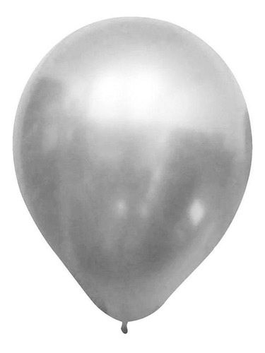 Balão Alumínio Nº9 Natural c/25 - Happy Day