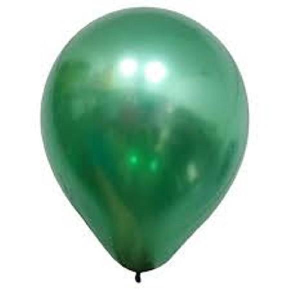 Balão Alumínio Nº9 Verde c/25 - Happy Day