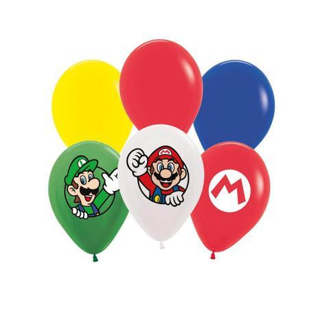 Balão de Látex Super Mario c/12 - Cromus