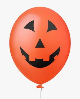 Balão Nº11 Cara de Abóbora Halloween c/25 - Happy Day