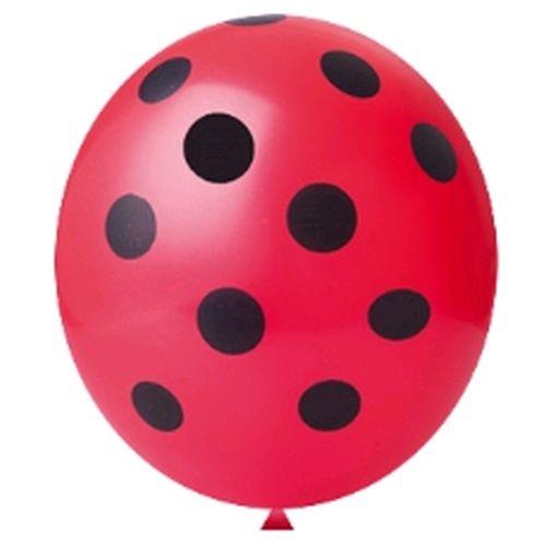 Balão Nº11 Confete Joaninha Vermelho Paixão c/25 - Happy Day