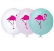 Balão Nº11 Flamingo Sortido c/25 - Happy Day