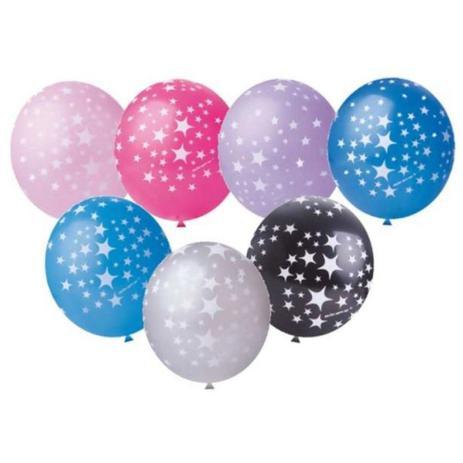 Balão Nº11 Happy Stars Sortido c/25 - Happy Day