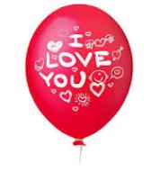 Balão Nº11 I Love You Vermelho Paixão c/25 - Happy Day
