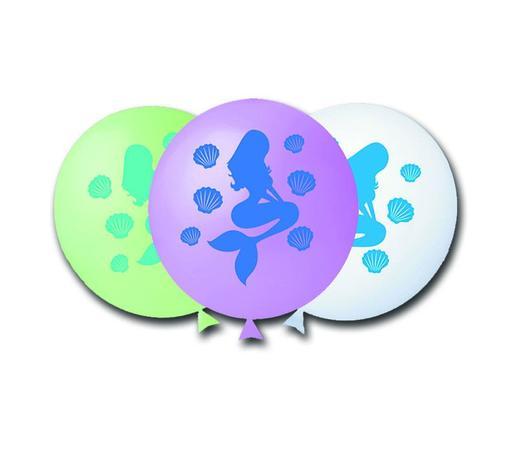 Balão Nº11 Sereia Sortido c/25 - Happy Day