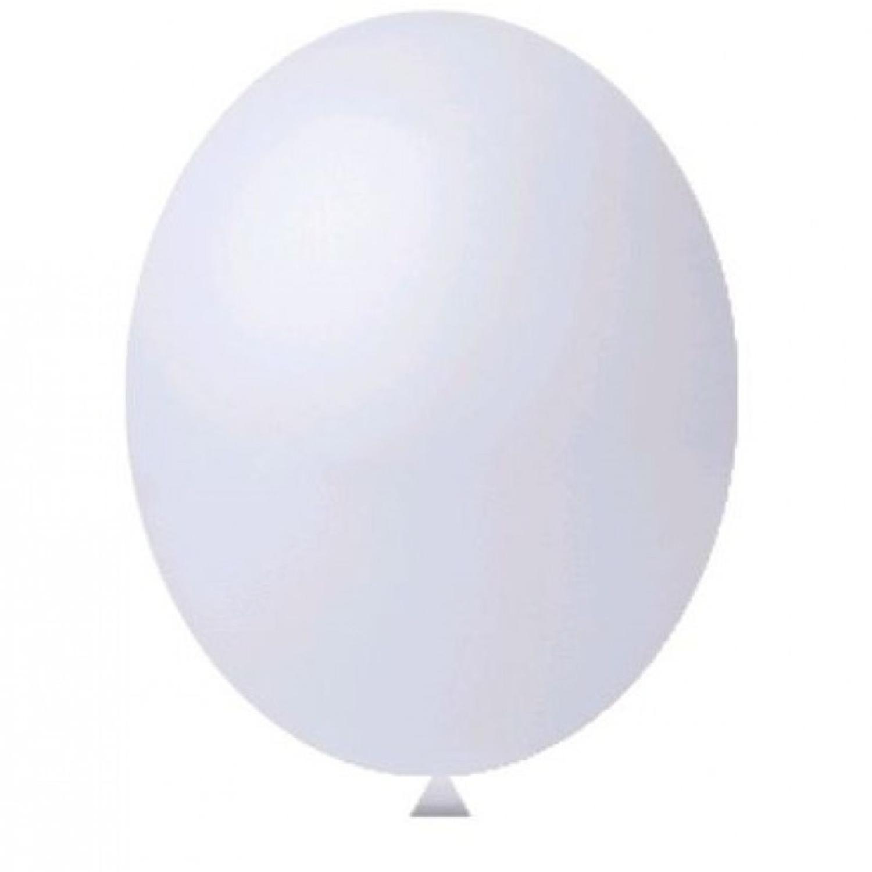 Balão Nº8 Branco c/30 - Happy Day