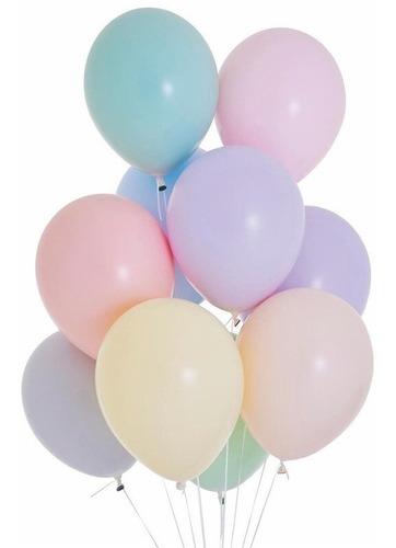 Balão Nº8 Candy Colors Sortido c/50 - Happy Day