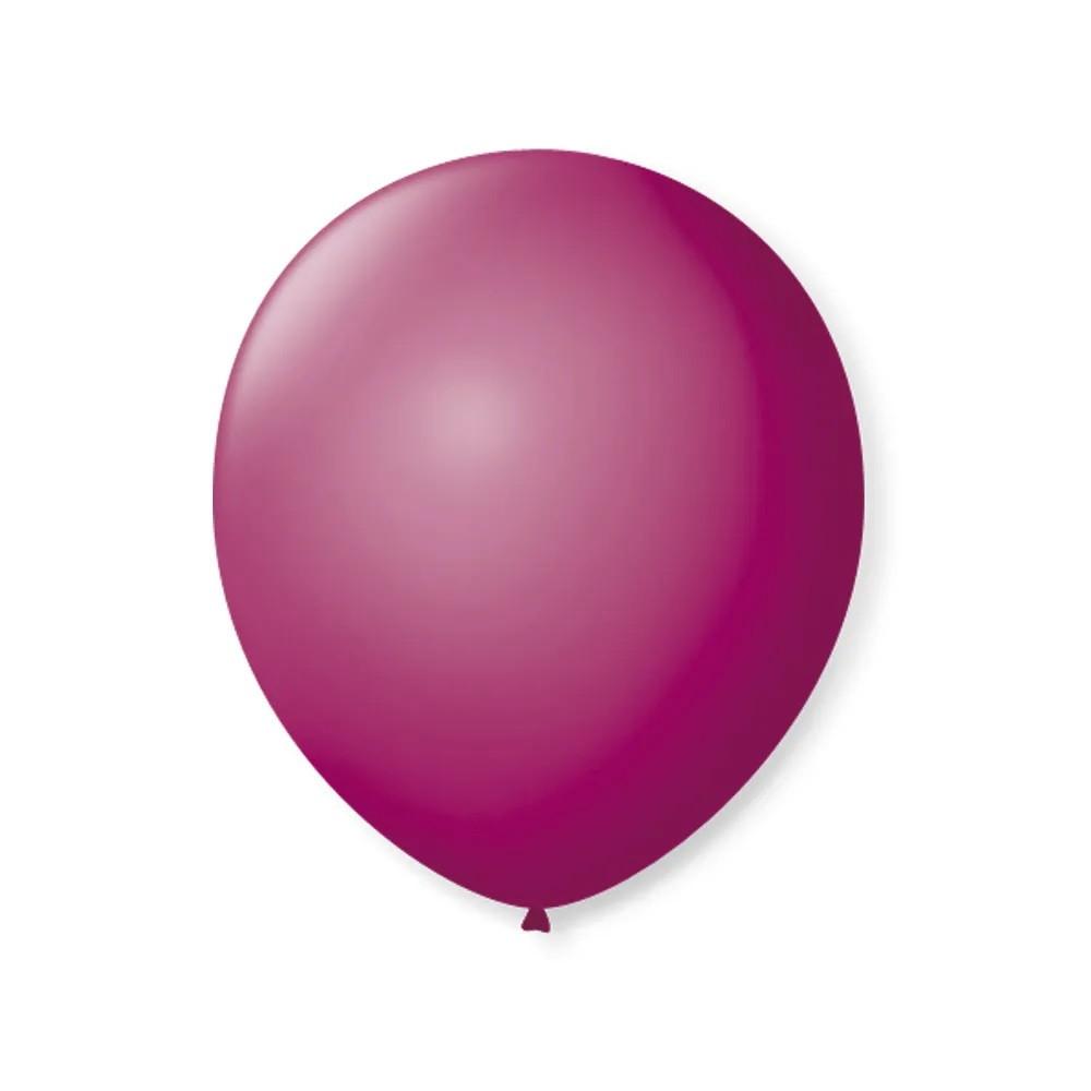 Balão Nº8 Fucsia c/50 - Happy Day