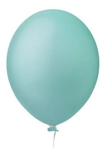 Balão Nº8 Verde Água c/30 - Happy Day