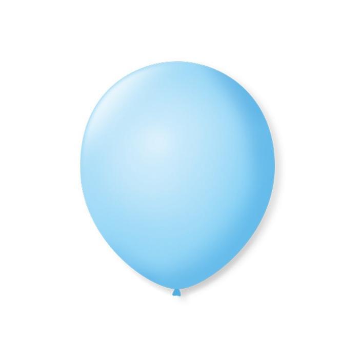 Balão Nº9 Azul Claro c/50 - Happy Day
