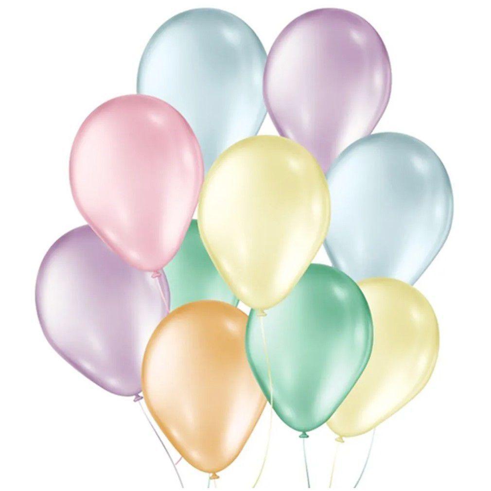 Balão Nº9 Candy Colors c/50 - Happy Day