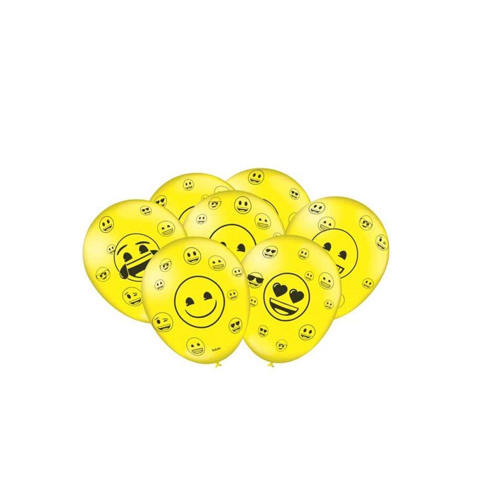 Balão Nº9 Especial Emoji c/25 - Festcolor