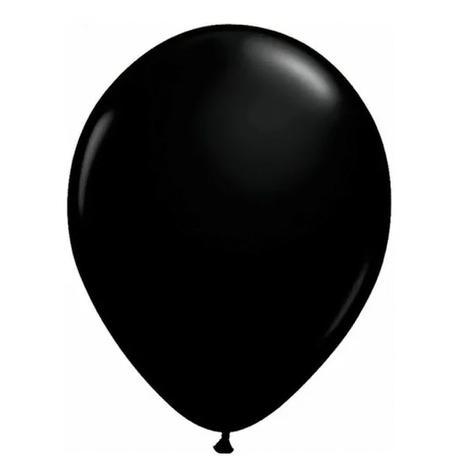 Balão Nº9 Preto c/30 - Happy Day