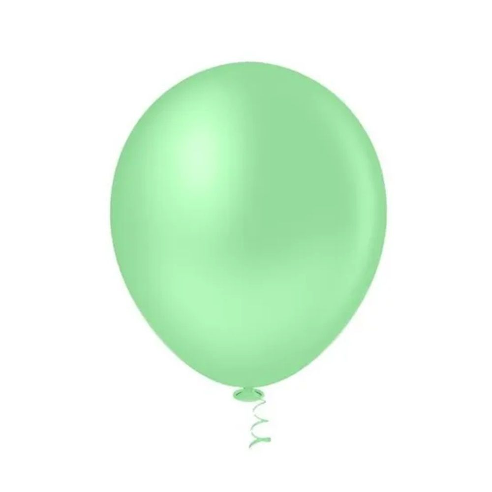 Balão Nº9 Verde Água c/30 - Happy Day