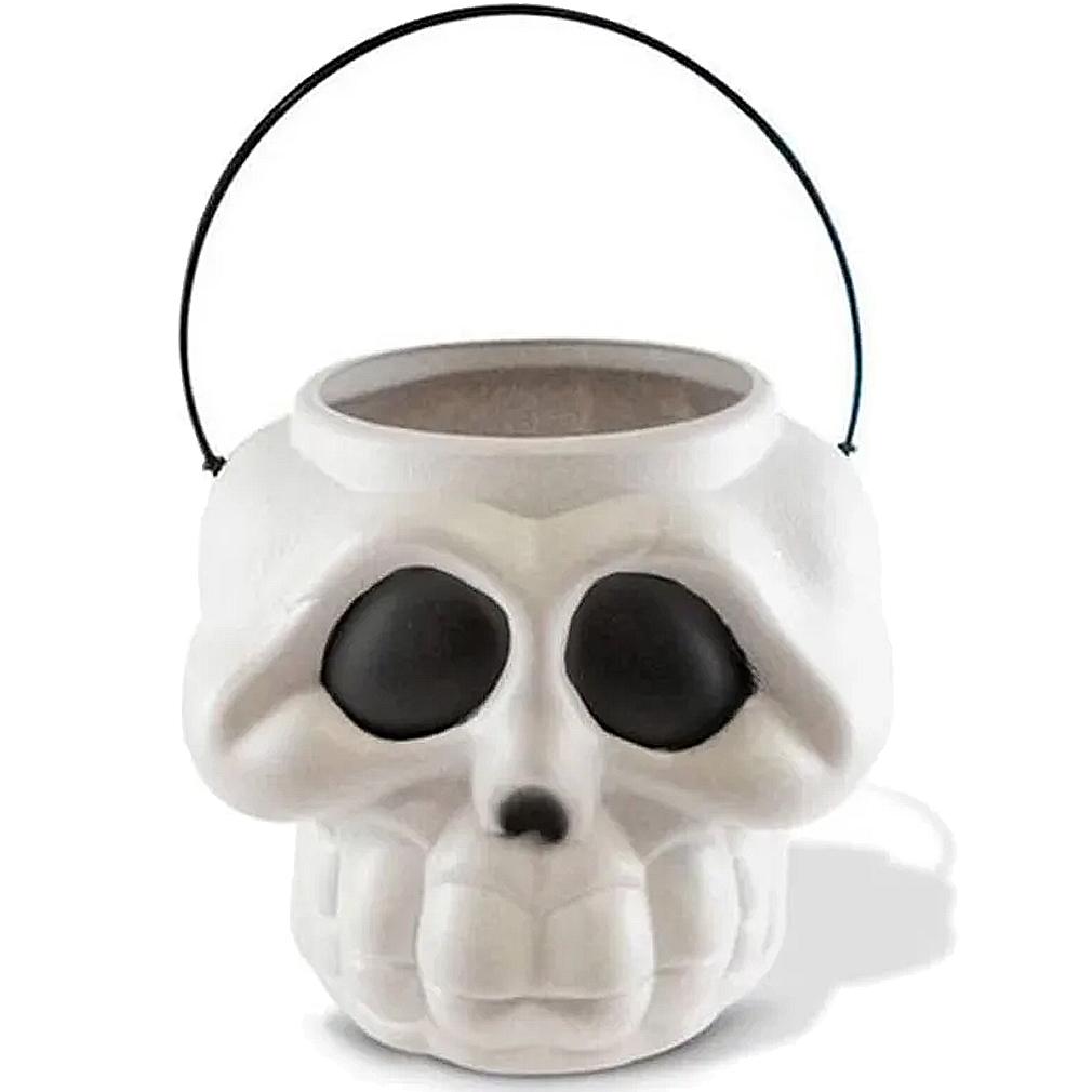 Balde Cabeça Esqueleto Branca - Brasilflex 16cm x 16cm