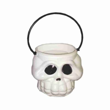 Balde Cabeça Esqueleto Branca Kids - Brasilflex 7cm x 7cm