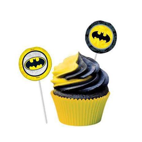 Bandeirinha Para Docinhos Batman Geek c/8 - Festcolor