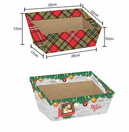 Bandeja Alta Grande Natal (Modelos Sortidos) - Mf Embalagens