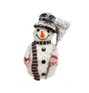 Boneco De Neve Decorativo Branco 50cm
