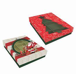 Caixa p/12 Doces Natal (Modelos Sortidos) - Mf Embalagens