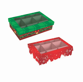 Caixa p/6 Doces Natal (Modelos Sortidos) - Mf Embalagens