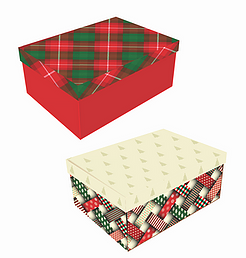 Caixa Presente G Natal (Modelos Sortidos) - Mf Embalagens