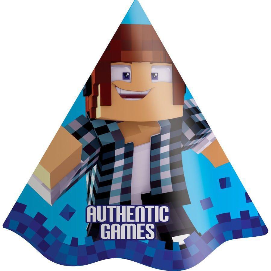 Chapéu de Aniversário Authentic Games c/8 - Festcolor