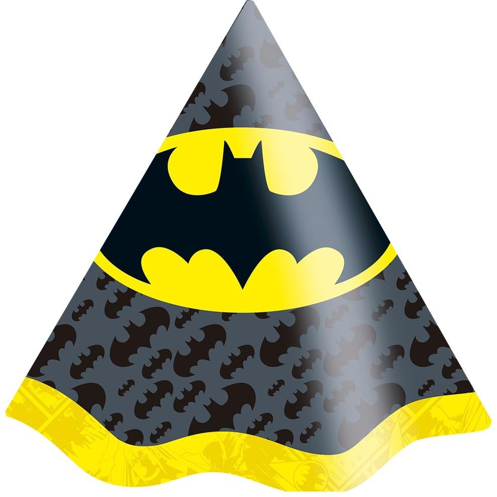 Chapéu de Aniversário Batman Geek c/8 - Festcolor