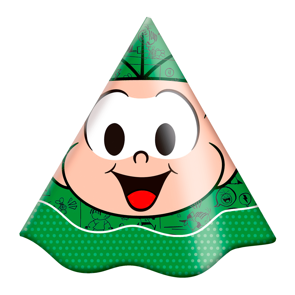 Chapéu de Aniversário Cebolinha c/8 - Festcolor