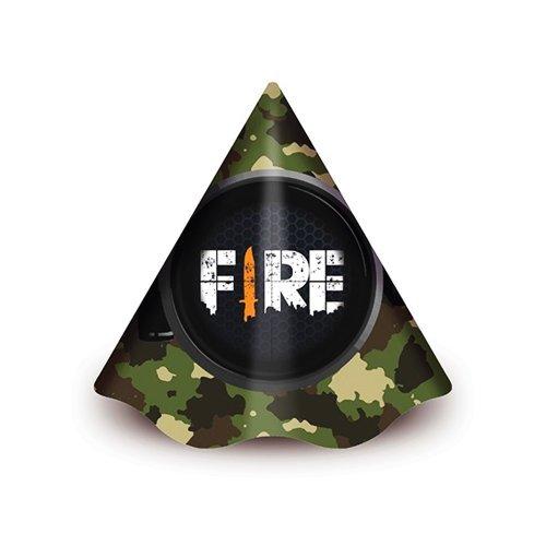 Chapéu de Aniversário Free Fire c/8 - Junco