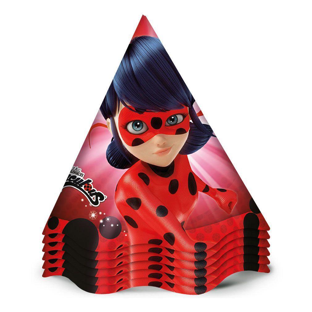 Chapéu de Aniversário LadyBug c/12 - Regina