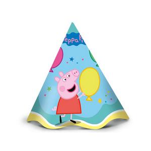 Chapéu de Aniversário Peppa Pig c/12 - Regina