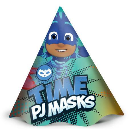 Chapéu de Aniversário PJ Masks c/12 - Regina