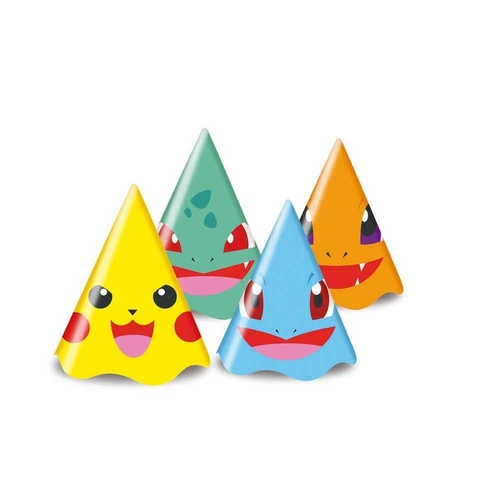Chapéu de Aniversário Pocket Monsters c/8 - Junco
