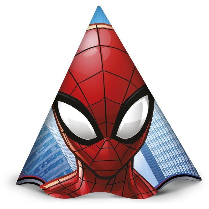 Chapéu de Aniversário Spider Man c/12 - Regina