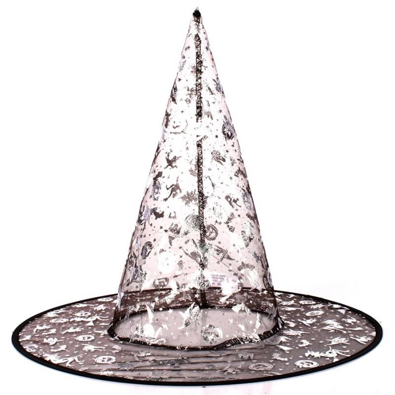 Chapéu de Bruxa Pontudo Transparente (Estampas Sortidas) - YDH