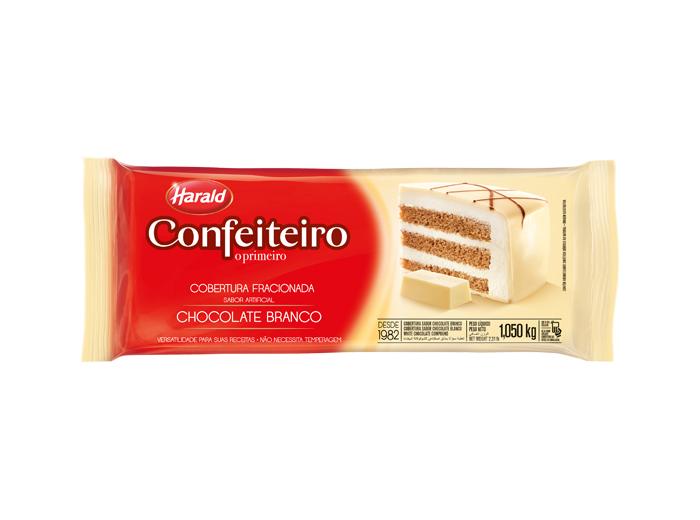 Chocolate confeiteiro Branco harald barra 1,010kg