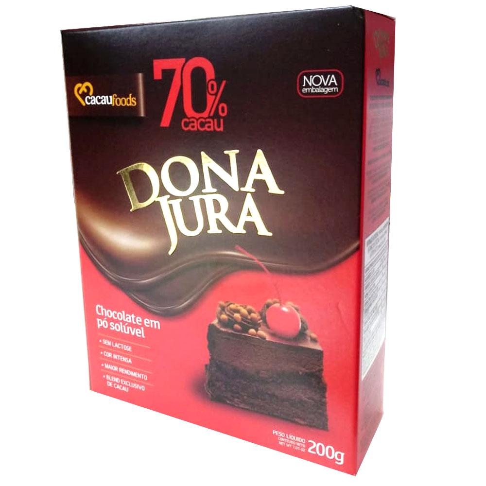Chocolate em Pó 70% Cacau 200g - Dona Jura