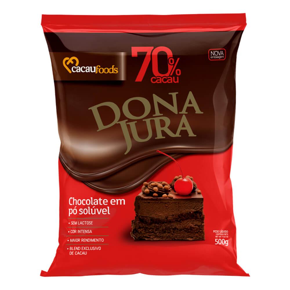 Chocolate em Pó Solúvel 70% Cacau 500g - Dona Jura